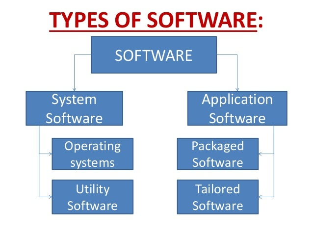 4 major classes of application software