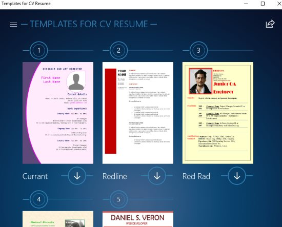 what is in windows console application template