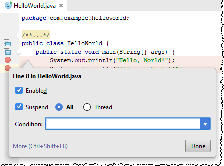 how to specify application properties in java