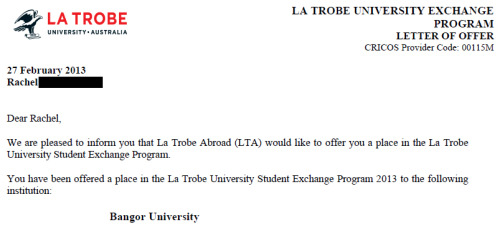 la trobe uni application log in