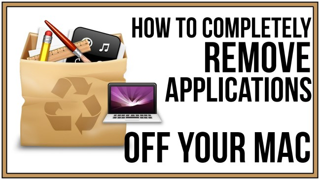 how to delete an application from mac computer