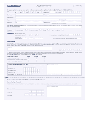 senior citizen railcard application form