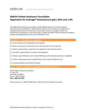 abbott patient assistance foundation application androgel