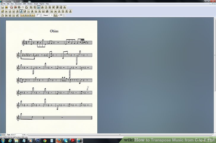 application to transpose music notes