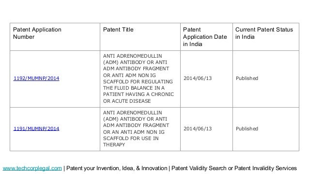 canadian patent application number search