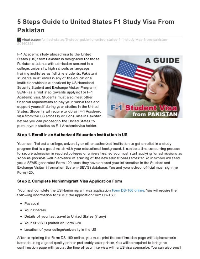 visa application for usa from pakistan