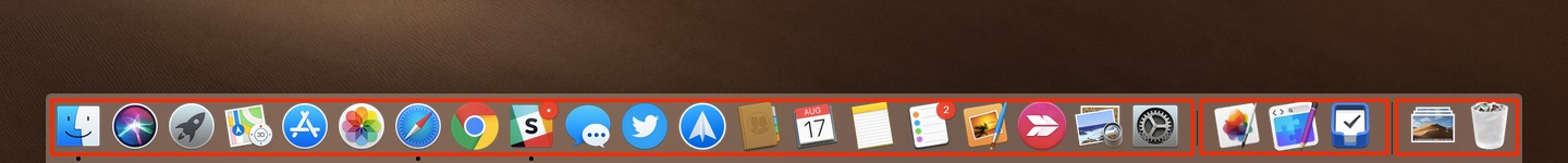 group applications in mac dock