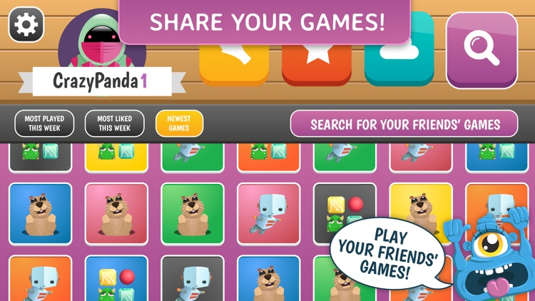 how to make your own game application