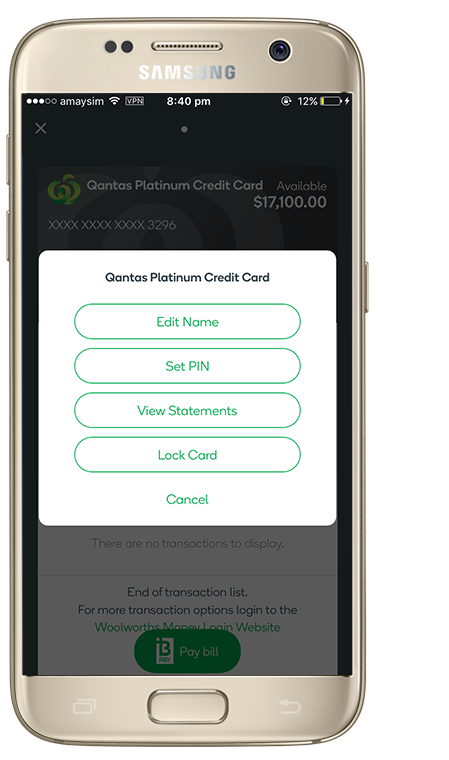 woolworths everyday money credit card application